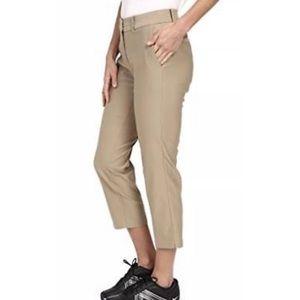 Nike women's dri fit golf capris khaki